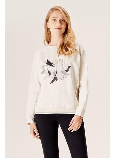 NaraMaxx Nakışlı Sweatshirt Gri